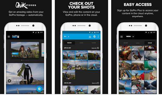 Aplicații pentru GoPro Android sau iPhone GoPro App