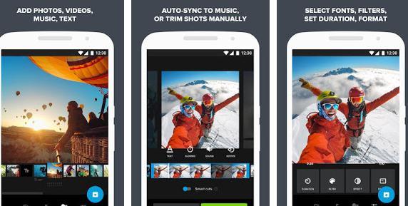 Aplicații pentru GoPro Android sau iPhone Quik aplicatie