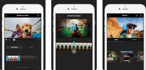 Aplicații pentru GoPro Android sau iPhone Splice
