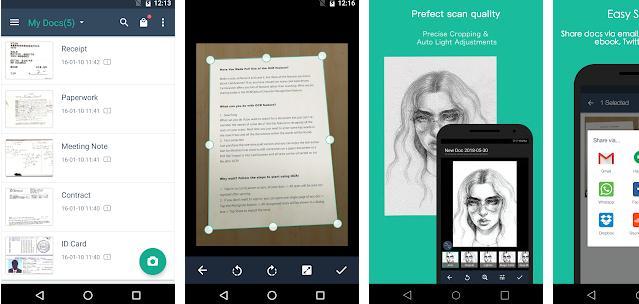 Aplicații scanner documente pentru Android sau iPhone CamScanner