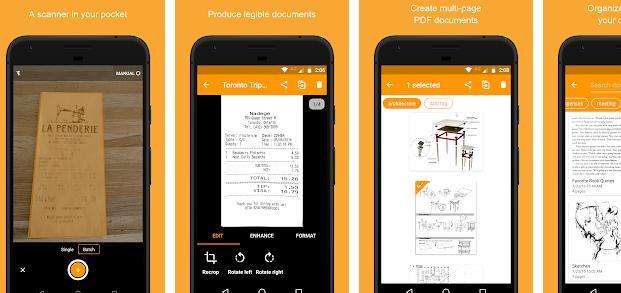 Aplicații scanner documente pentru Android sau iPhone Genius Scan