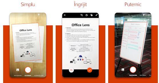 Aplicații scanner documente pentru Android sau iPhone Office Lens