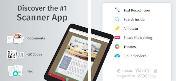 Aplicații scanner documente pentru Android sau iPhone Scanbot
