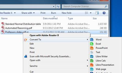 Convertește PDF din meniul contextual pe Windows modul de utilizare