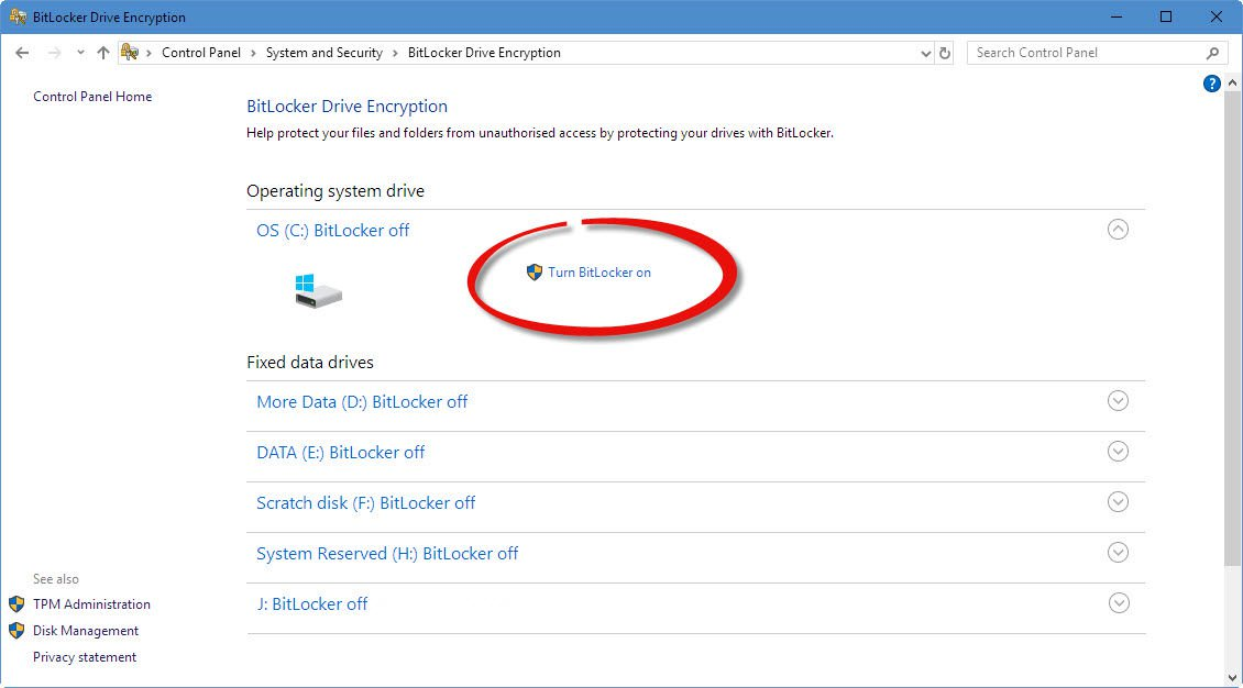 Criptare date pe hard disk în Windows 10 cu BitLocker verificare criptare date