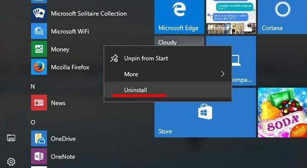 Cum dezinstalezi aplicațiile preinstalate în Windows 10 dezinstalare programe