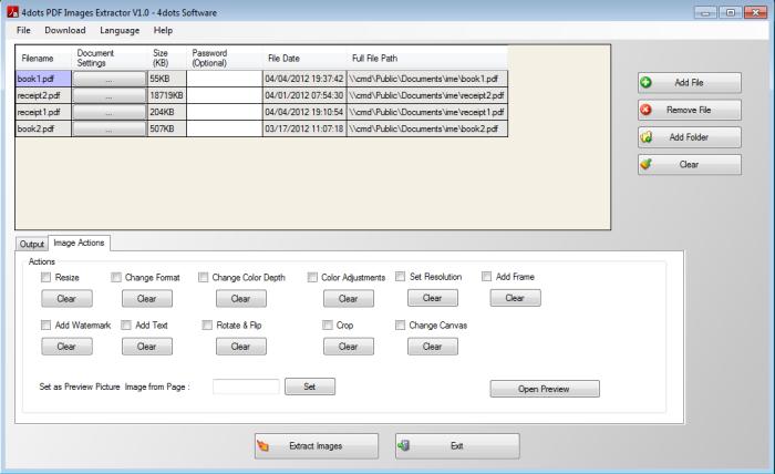 Extrage imagini din documente PDF cu Image Extractor