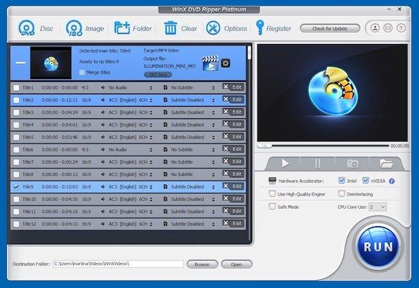 Programe de convertit video DVD în MP4 WinX DVD Ripper