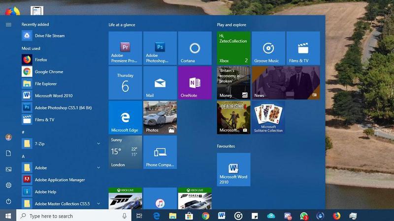 Rezolvare meniul Start din Windows 10 nu funcționează