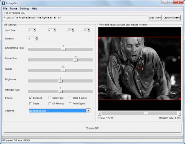 Transformă video în GIF cu efecte și subtitrare