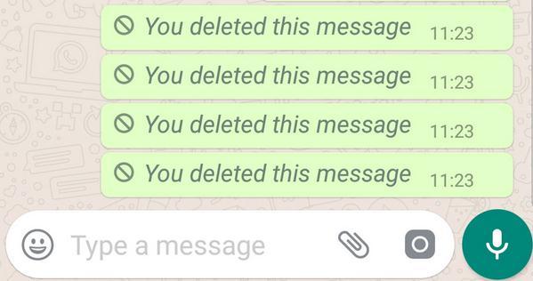 Șterge mesajele pe WhatsApp înainte să fie citite mesajele sterse