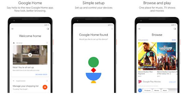 Aplicații pentru conectare telefon la TV Android sau iPhone Google Home