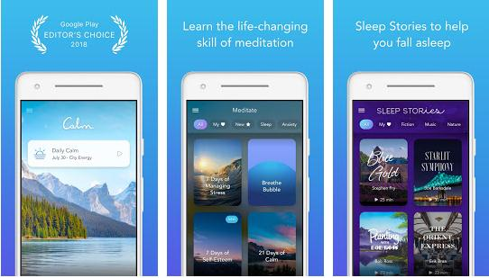 Aplicații pentru somn pentru Android sau iPhone Calm