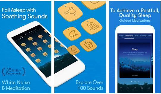 Aplicații pentru somn pentru Android sau iPhone Relax Melodies de dormit