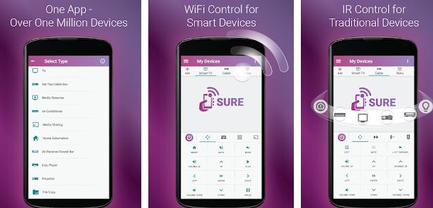 Aplicații pentru telecomanda telefon Android sau iPhone sure