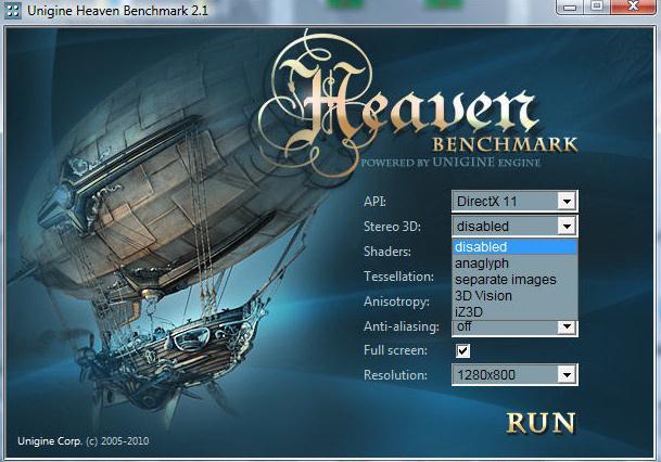 Compară placa ta video din PC cu altele Heaven from Unigine setari