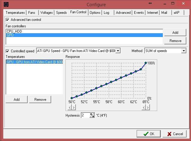 Controlează viteza ventilatorului cooler pe laptop sau PC SpeedFan