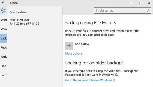 Copie de rezervă la Windows 10 pe PC sau laptop selectare hard disk