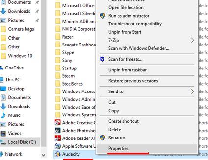 Cum folosești programe ca administrator în Windows 10 clic dreapta propietate