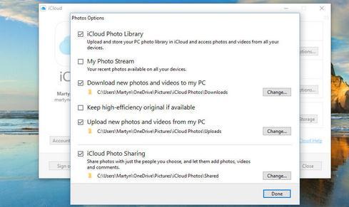 Cum folosești un iCloud pentru Windows pe PC sau laptop optiuni imagini
