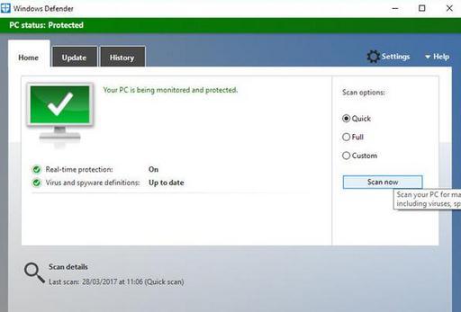 scanarea calculatorului de virus