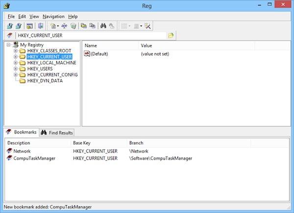 Editor de registru pentru Windows cu funcții suplimentare