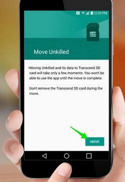Mutare aplicații pe card Android fără root Samsung finalizare