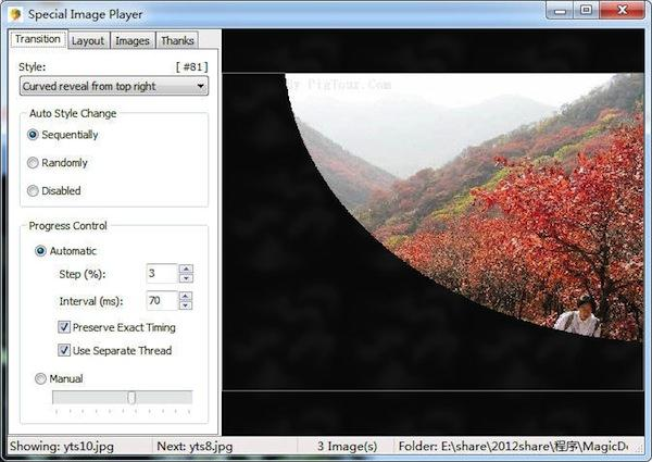 Program de făcut slideshow din 172 de efecte diferite