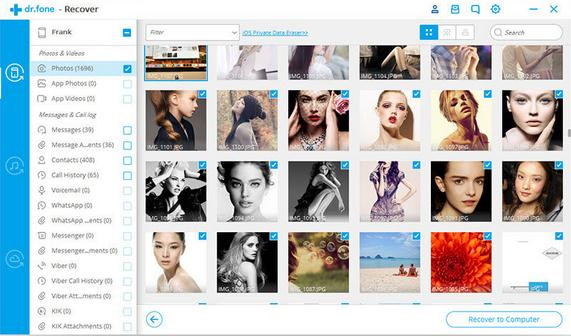Recuperare poze din iPhone fără copie de rezervă backup dr fone galeria poze