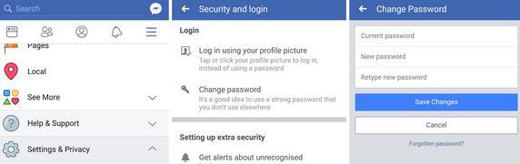 Schimbă parola la Facebook pe telefon laptop sau PC noua parola