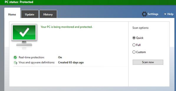 Activare sau dezactivare Windows defender Windows 10 activat