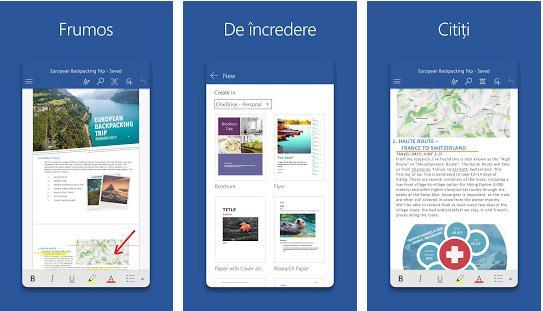 Aplicații de făcut pliante fluturași Android sau iPhone icrosoft Word