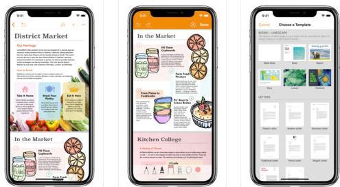 Aplicații de făcut pliante fluturași Android sau iPhone pages