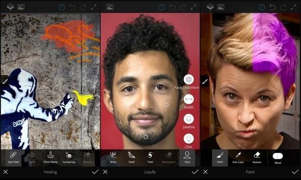 Aplicații pentru Photoshop editor Android sau iPhone