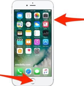 Captură de ecran iPhone 8 foarte simplu butoane de apasat