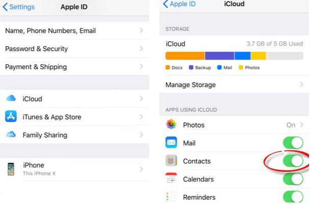 Copiază contactele de pe iPhone pe PC cont icloud