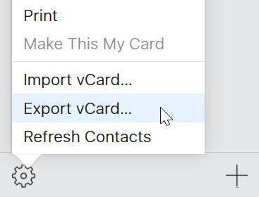 Copiază contactele de pe iPhone pe PC exportare pe pc