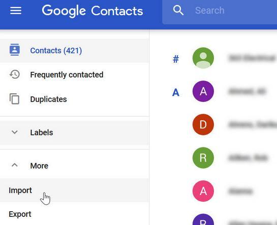 Copiază contactele de pe iPhone pe PC importare contacte in Gmail