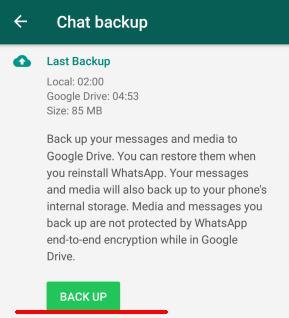 Cum transfer mesaje și Whatsapp de pe un telefon pe altul backup la fisiere