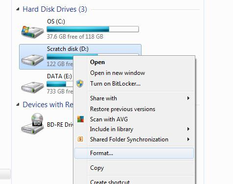 Formatare hard disk chiar și extern pe PC sau laptop stergere rapida