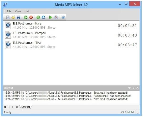 Meda MP3 Joiner, unire più file mp3 ed aggiungervi i tag iD3