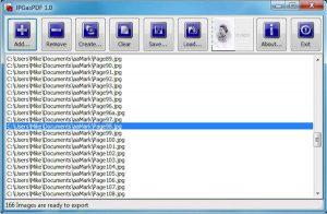 Program de făcut PDF din poze JPGasPDF
