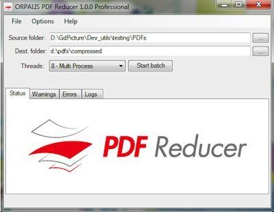 Program pentru comprimare documente PDF