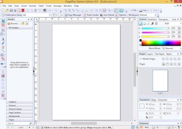 Programe de făcut pliante fluturași flyere pe PC Serif PagePlus Starter Edition