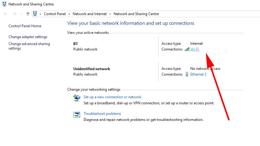 Află parola wifi la care ești conectat pe PC sau laptop control panel setarile de retea