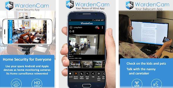 Aplicații pentru camere de supraveghere Android Home Security Camera WardenCam