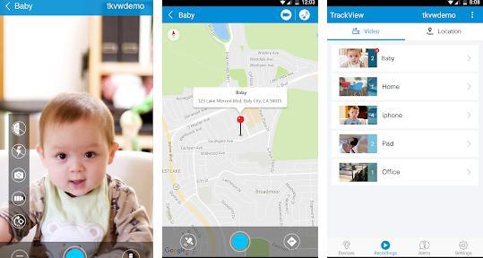 Aplicații pentru camere de supraveghere Android Surveillance & Security – TrackView