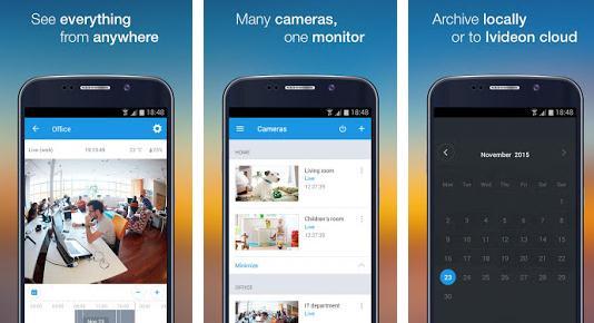 Aplicații pentru camere de supraveghere Android Video Surveillance Ivideon