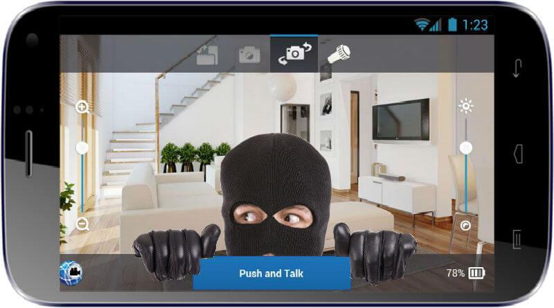 Aplicații pentru camere de supraveghere Android