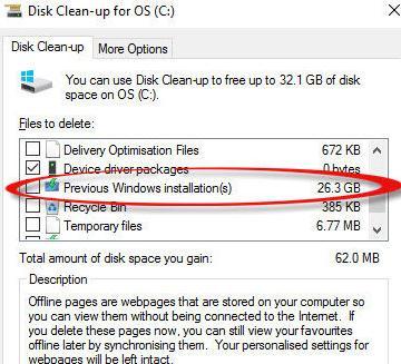 Ce este Windows.OLD și cum se poate șterge acest folder eliminare fisiere